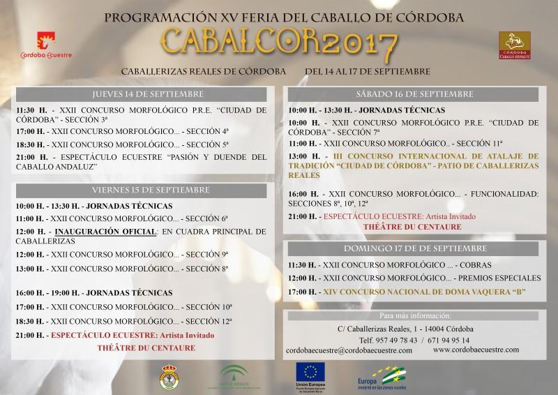 programa de actividades cabalcor 2017