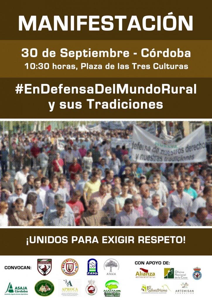 El mundo rural se reivindicará el 30 de septiembre en Córdoba