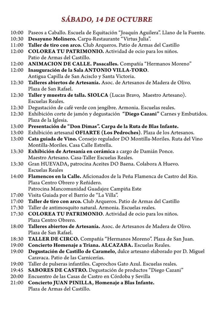 programa X edición de la feria Artesanal 'Ars Olea' Sábado 14 de octubre